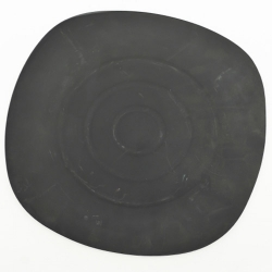 7.5 Inch - Quarter Plate - Made of Black Matt - Food Grade Acrylic - Square Shape - Black Color