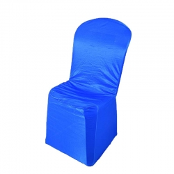 Chandni Chair Cover without Handale For Plastic Chair Blue  Color .