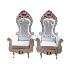 White Color - Udaipur - Heavy - Premium - Mandap Chair ..