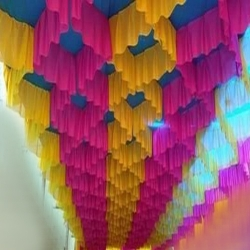 15 FT X 15 FT Designer Mandap Ceiling Cloth - Design Brite Lycra Cloth -Multi Colour