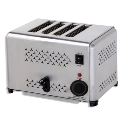 The Urban Kitchen POP UP Toaster (4 Slice) - Easy-Clean Crumb Trays - Made of Stainless Steel (30 x 22 x 22 cm)