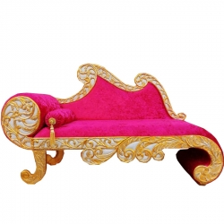 Pink Color - Heavy Premium Metal Jaipur Couches - Sofa - Wedding Sofa - Wedding Couches - Made of High Quality Metal & Wooden  .