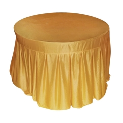 4 Ft  x 4 Ft - Round Table Cover - Made of Premium Quality Lycra Cloth - Sona Gold Color