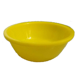 5 Inch Round Bowl - Katori - Wati - Curry Bowls - Dessert Bowls - Made Of Food Grade Virgin Plastic - Yellow Color