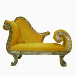 Yellow Color - Udaipur - Rajasthani - Heavy - Couches - Wedding Sofa - Wedding Couches - Made of Wooden & Metal.