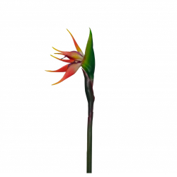 30 Inch  Artificial Bird of Paradise Flower - Small Flower Stick Made of Fabric & Plastic
