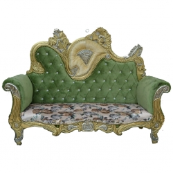Multicolor - Udaipur - Rajasthani - Jaipuri - Heavy - Premium - Couches - Sofa - Wedding Sofa -Maharaja Sofa - Wedding Couches - Made of Wooden & Metal
