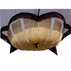 15 FT X 15 FT - Designer Mandap Ceiling Cloth - Top Taiwan - Work Brite Lycra - Cream & Black Color