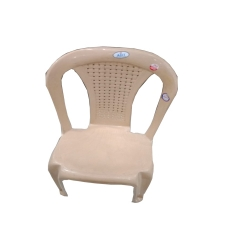 Fiber Arm Less Chair - A Relaxing Seating Experience Indoor-Outdoor - Chair cream color