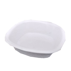 5 Inch - Square Chat Plate - Snack Plate - Pani Puri Plate - Made of Plastic - White Color