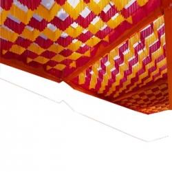 15 FT X 15 FT - Designer Mandap Ceiling - Wedding Top - Cloth Pandal - Made of 16 KG Taiwan - Design 24 Gauge Brite Lycra Cloth