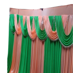 11 FT X 15 FT - Parda - Curtain - Stage Parda - Wedding Curtain - Mandap Parda - Made of Brite Lycra Cloth.