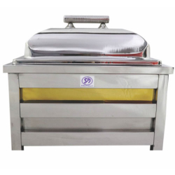 7.5 LTR - Golden Silver Chafing - Chafing Dish - Hot Pot - Made Of Stainless Steel