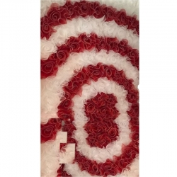 4 FT X 8 FT - Artificial Flower Panel Back Material Taiwan Cloth - Red & White Color,