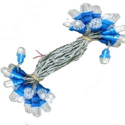 60 FT Long - 60 Led Bulbs - Light - Series - Heavy Diamond Mould - Blue Color