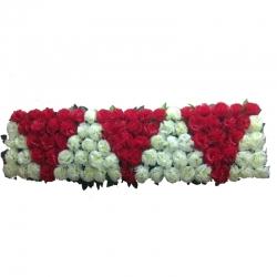 6 FT - Plastic Artificial Flower Panel - Flower Carry - Flower Decoration - Multi Color