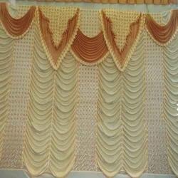 10 FT X 15 FT - Parda - Curtain - Stage Parda - Wedding Curtain - Mandap Parda Made of  24 Gauge Brite Lycra Work - Multi Color