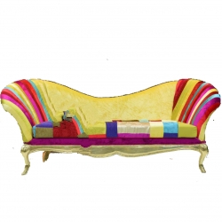 Multi Color - Udaipur - Rajasthani - Heavy - Couches - Sofa - Wedding Sofa - Wedding Couches - Made of Wooden & Metal.