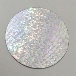 2 INCH - Artificial plastic Sparkle Sikka - Silver Color