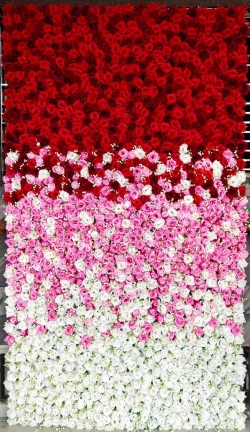 9 FT X 5 FT - Artificial Flowers Wall with Iron Fream - Flower Decoration - Multi Color.