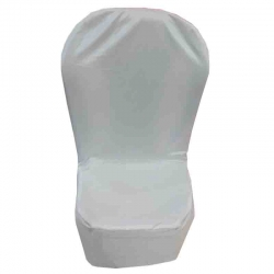 Chandni Chair - Cover without Handle - For Plastic Chair - Super White Color