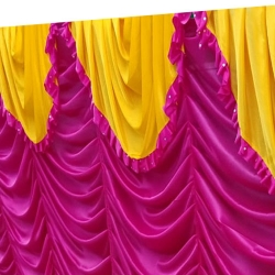 10 FT X 20 FT - Parda - Curtain - Stage Parda - Wedding Curtain - Mandap Parda - Made Of Brite Lycra - Multi Color