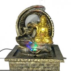 12 Inch - Fiber Buddha Fountain - Indoor & Outdoor Wedding Decoration - Made of Fiber