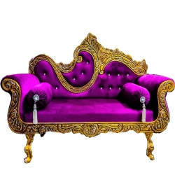 Purple  Color - Heavy Premium Metal Jaipur Couches - Sofa - Wedding Sofa - Wedding Couches - Made Of High Quality Metal & Wooden