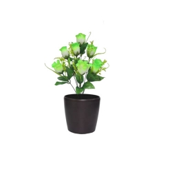 1.2 FT - Artificial Flower Bunches - Fake Flowers Artificial Plant without Pot - Parrot Green Color