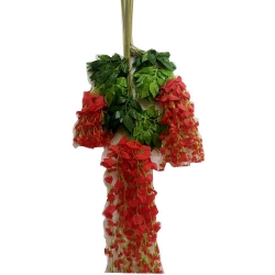 3.5 FT - Plastic Artificial Flower - Latkan - Flower Decoration - Red Color