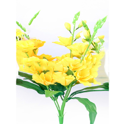 Height 24 Inch - Glad Bunch X 5 - AF- 211 - Leaf Bunch - Yellow Color