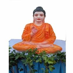 4 FT X 4 FT - Fiber Statue of Gautam Buddha for Decoration of Wedding & Reception.