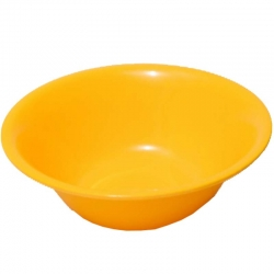 10 Inch Deep Bowls - Donga - Serving Bowls - Made Of Food-Grade Regular Plastic - Yellow Color