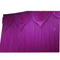 10 FT X 15 FT - Designer Curtain - Parda - Stage Parda - Wedding Curtain - Mandap Parda - Back Ground Curtain - Side Curt