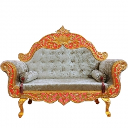 Grey Color - Heavy Premium Metal Jaipur Couches - Sofa - Wedding Sofa - Wedding Couches - Made of High Quality Metal & Wooden