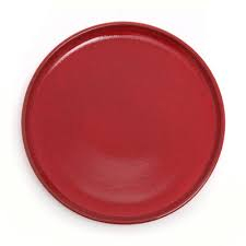 11 Inch - Round Dinner Plate - Dinner Plates With Plain Design - Made Of Food Grade Virgin Plastic - Brown Color