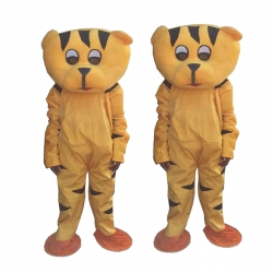 Tiger Adult Costume - Party Mascot - Made Of High Quality Plush Material - Set Of 2