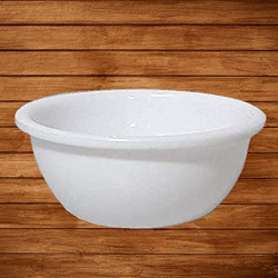 5 Inch Round Bowl - Katori - Wati - Curry Bowls - Dessert Bowls - Made Of Food Grade Virgin Plastic - White Color