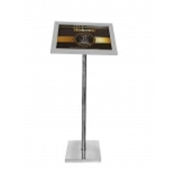 42 Inch - Standing Menu Stand  - Menu Card Holder - Made of Stainless Steel