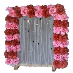 2 FT X 2 FT - Wooden Frame - Artifical Flower Frame -  Decorative Frame - Multi Color.