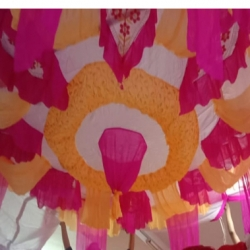 15 FT X 15 FT - Designer Mandap Ceiling Cloth - Top 16 KG Taiwan - Design 24 Gauge Brite Lycra Cloth .