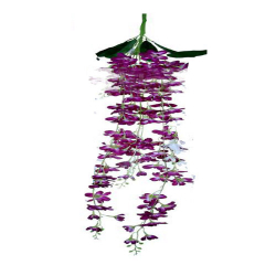 Height - 54 Inch - Orchid Hanging - Latkan - Flower Decoration - Artificial Hanging - AF 118 - Purpule & White Color
