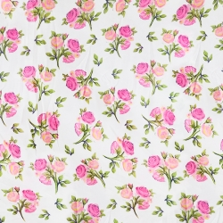 Micro Rotto Print Cloth - 40 Inch Panna - 5.2 KG - Event Cloth - Butter Crepe Cloth - Multi Color