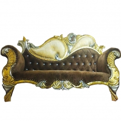 Brown Color - Udaipur - Rajasthani - Heavy - Premium - Couches - Sofa - Wedding Sofa - Wedding Couches - Made of Wooden & Metal.
