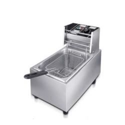 14 LTR - Electric Gas - Stainless Steel Silver Electric Deep Fryer.