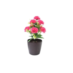 1.2 FT - Artificial Flower Bunches - Fake Flowers Artificial Plant without Pot - Pink Color