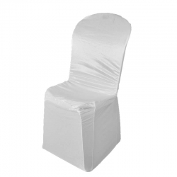 Chandni Chair Cover without Handle For Plastic Chair - White Color