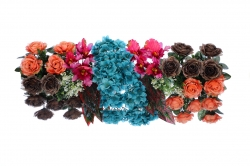 2.5 Feet Plastic Artificial Flower Carry / Main Door Hanging For Wedding & Decoration.