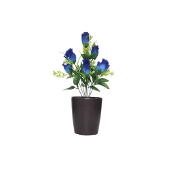 1.2 FT - Artificial Flower Bunches - Fake Flowers Artificial Plant without Pot - Blue Color