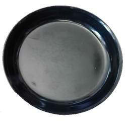6 Inch - Chat Plate - Made Of Food-Grade Melamine Quality - Black Color